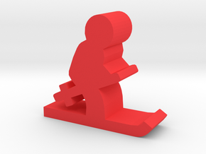 Game Piece, Skier in Red Strong & Flexible Polished