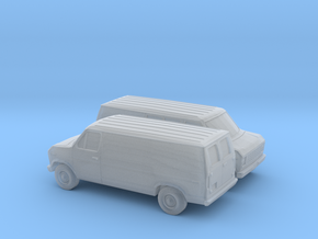 1/160 2X 1975-91 Ford E-Series Delivery Van in Frosted Ultra Detail
