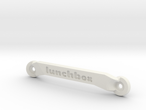CW01 Chassis Brace - Front - Lunchbox in White Strong & Flexible