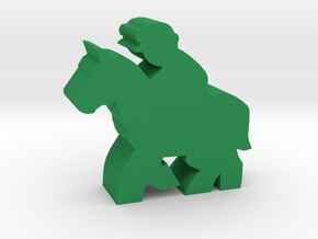 Game Piece, Race Horse in Green Strong & Flexible Polished