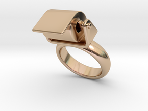 Toilet Paper Ring 17 – Italian Size 17 in 14k Rose Gold Plated