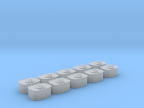 1/24 scale Wall Switch C Set 10 Units in Frosted Ultra Detail