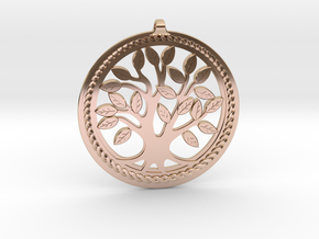 DNA/Tree Of Life Pendant ~ 45mm in 14k Rose Gold Plated