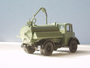 1:43 Dennis Pax Cab & Gully Emptier Chassis 1940s in White Strong & Flexible Polished