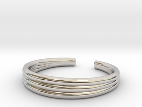 TRIBAND STANDARD 6 RING in Rhodium Plated