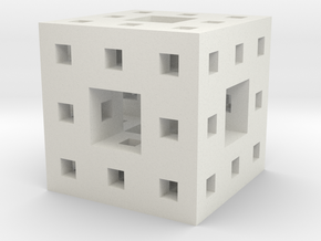 Little Level 2 Menger Sponge in White Strong & Flexible