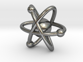 Atom Earring in Polished Silver