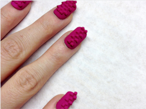 Cube Nails (Size 2) in Pink Strong & Flexible Polished