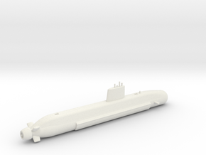 1/700 Barracuda Class Submarine in White Strong & Flexible