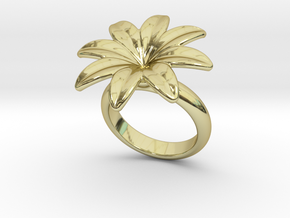 Flowerfantasy Ring 14 – Italian Size 14 in 18k Gold Plated