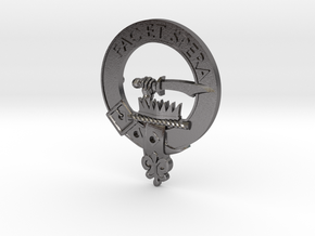 Clan Matheson Plaque in Polished Nickel Steel
