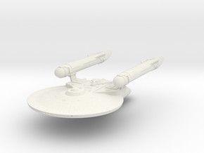 Maxin Class Cruiser  New Axanar Ship  in White Strong & Flexible