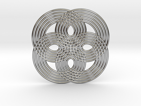 0531 Motion Of Points Around Circle (5cm) #008 in Premium Silver