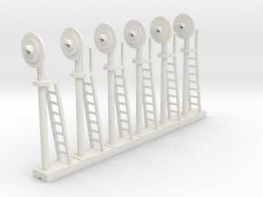 Signal Searchlight (x6) - HO 87:1 Scale in White Strong & Flexible
