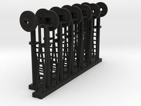 Signal Searchlight (x12) - N 160:1 Scale in Black Strong & Flexible