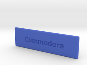 """Chameleon 64 housing """"Commodore"""" (cover - part 2) in Blue Strong & Flexible Polished"""