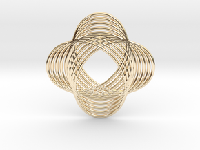 0540 Motion Of Points Around Circle (5cm) #017 in 14k Gold Plated