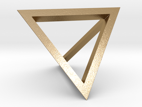 Tetrahedron Pendant in Polished Gold Steel