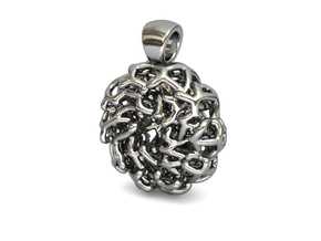 PERLA Pendant (cm 2 x 2.5 x 1) in Polished Silver