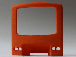 Brussels Metro M1 Front panel in Orange Strong & Flexible Polished