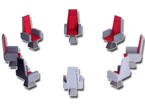 M.A.S.K. Energy Room - All 8 chairs in White Strong & Flexible Polished