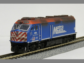 N Scale EMD F40PHM-2 (Metra) in Frosted Ultra Detail
