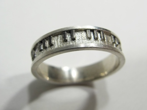 Piano Keyboard Ring in Polished Silver