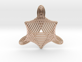 0547 Motion Of Points Around Circle (5cm) #024 in 14k Rose Gold Plated