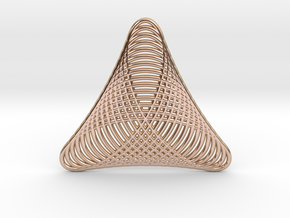 0548 Motion Of Points Around Circle (5cm) #025 in 14k Rose Gold Plated