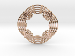 0551 Motion Of Points Around Circle (5cm) #028 in 14k Rose Gold Plated