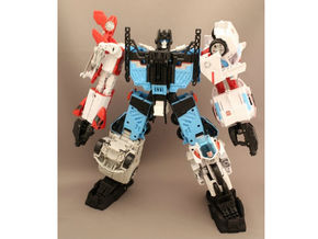 Combiner Wars Foot Add-on Parts in Black Strong & Flexible