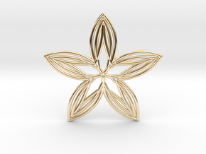 0562 Motion Of Points Around Circle (5cm) #039 in 14k Gold Plated