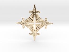 0564 Motion Of Points Around Circle (5cm) #041 in 14k Gold Plated