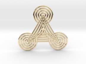 0565 Motion Of Points Around Circle (5cm) #042 in 14k Gold Plated