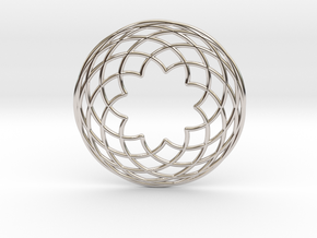 0567 Double Rotation Of Point (5 cm) #002 in Rhodium Plated