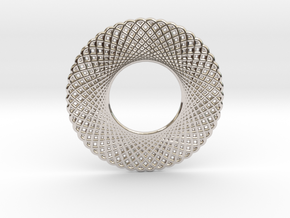 0568 Double Rotation Of Point (5 cm) #003 in Rhodium Plated