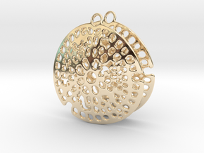 Radiolarian earrings in 14k Gold Plated
