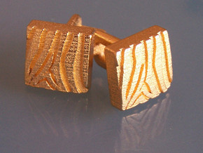 Eq Cufflinks Set in Polished Gold Steel