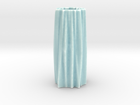 Organic flower vase in Gloss Celadon Green Porcelain
