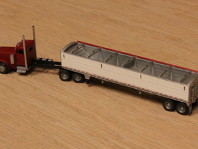 1:160 N Scale 43' Aluminum Grain Trailer in Frosted Ultra Detail