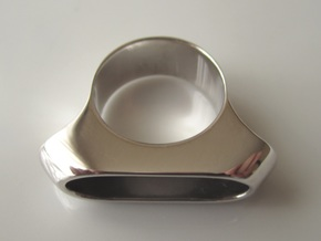Box for Pillbox Ring - size 10 in Rhodium Plated