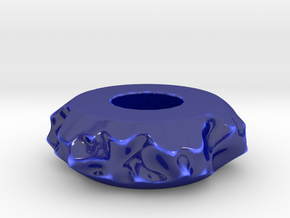 Candlestick in Gloss Cobalt Blue Porcelain