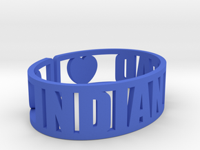 Indian Head Cuff in Blue Strong & Flexible Polished