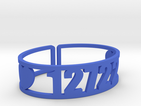 Camp Echo Zip Cuff in Blue Strong & Flexible Polished