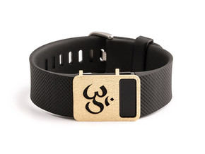 Steel OM slide for Fitbit Charge & Charge HR in Matte Gold Steel