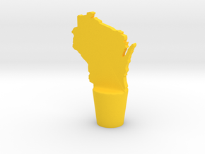 Wisconsin Wine Stopper in Yellow Strong & Flexible Polished