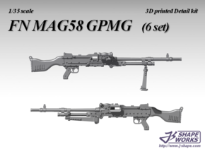 1/35 FN MAG58 GPMG (6 set) in Frosted Extreme Detail