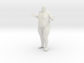 1/20 Fat Man 013 in White Strong & Flexible