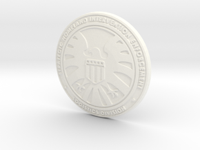 SHIELD Badge in White Strong & Flexible Polished