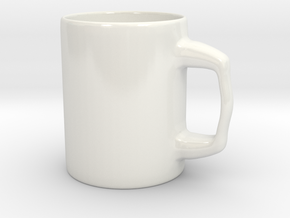 Designers Mug for Coffee or else in Gloss White Porcelain